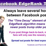 Facebook Post Timing Tip