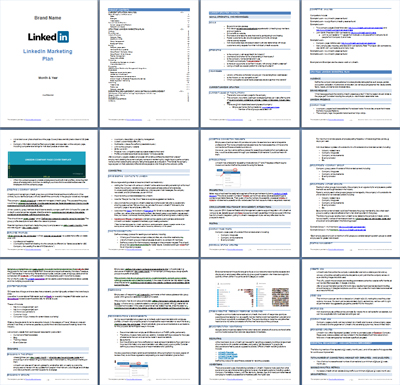 Preview of the LinkedIn Marketing Plan Template