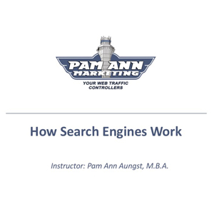 """How Search Engines Work"" Training Course Logo"