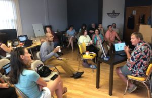 Photo of the July Morris County WordPress Meetup