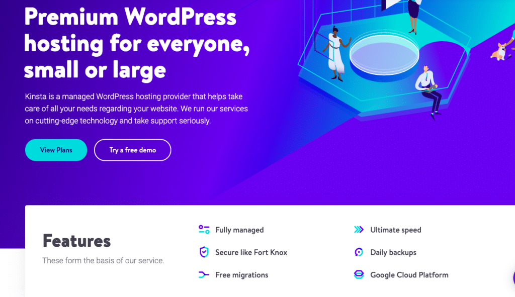 Kinsta is one of the companies that provides managed WordPress hosting for agencies; here are some of the features they offer.