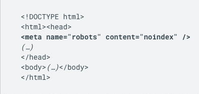 An example of how to use meta robots tags.