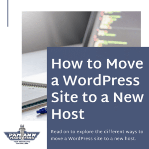 How to move a WordPress site to a new host.