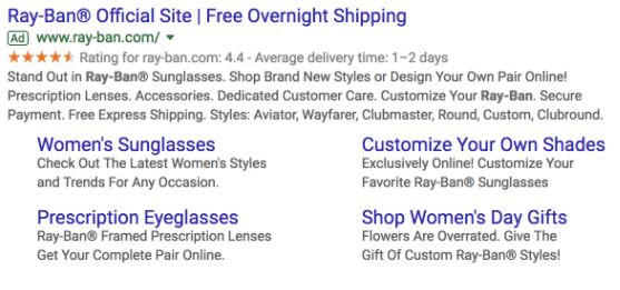 Including sitelink extensions is an important part of successfully using Google Ads.