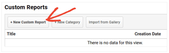 Be sure to name and save your report when creating a custom report in Google Analytics.